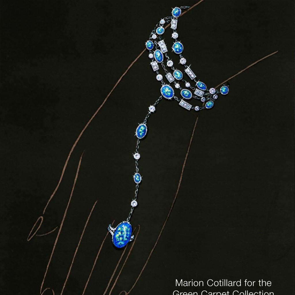 6. Sketch Marion Cotillard for Chopard