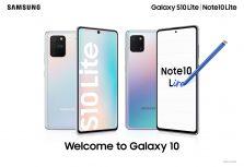 Представлены Samsung Galaxy S10 Lite и Note10 Lite