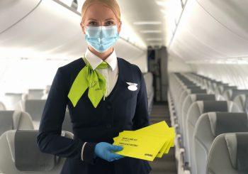 airBaltic вводит новые меры безопасности для здоровья на рейсах
