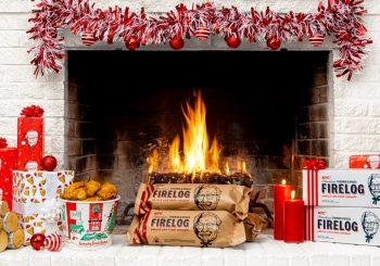KFC выпустил ароматные дрова для камина