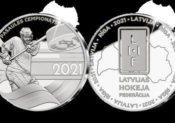 В честь сборной Латвии по хоккею и ее болельщиков выпущена особая медаль