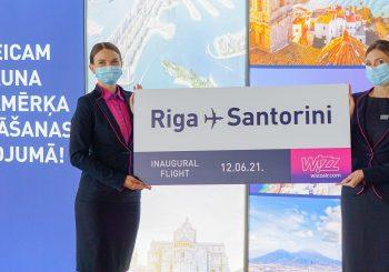 Открыт новый маршрут Wizz Air из Риги до великолепного Санторини