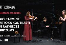 Цифровой концертный зал Lielais Dzintars предлагает запись дебютного концерта Trio Carmine