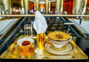 Золотой капучино в Burj Al Arab Jumeirah
