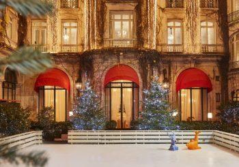Рождественский каток в Париже
